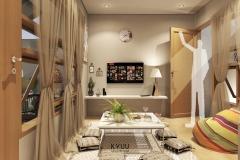 De Urban Medan Living Room